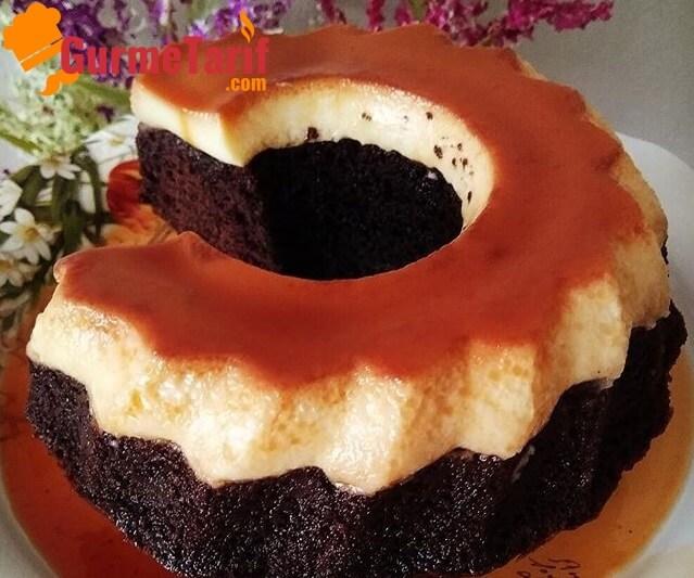 karamelli kek tarifi