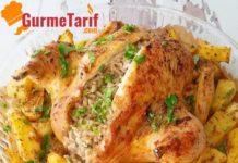 fırında iç pilavlı tavuk
