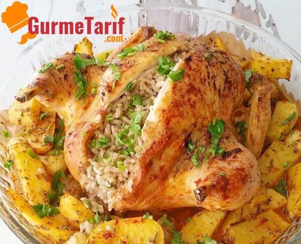Fırında İç Pilavlı Tavuk Yemeği
