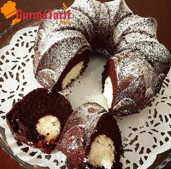 sürpriz kek kakaolu