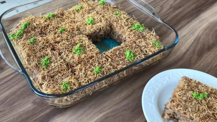 Şerbetli kadayıflı kek tarifi nasıl yapılır?