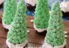 Yılbaşı tarifleri, yılbaşı ağacı cupcake, cupcake tarifleri ağaç şeklinde tarifler kekler