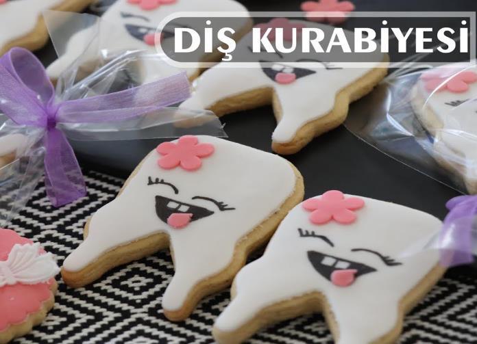 Diş kurabiyesi nasıl yapılır? Şeker hamuru ile diş kurabiyesi yapımı. Diş kurabiyesi tarifi.