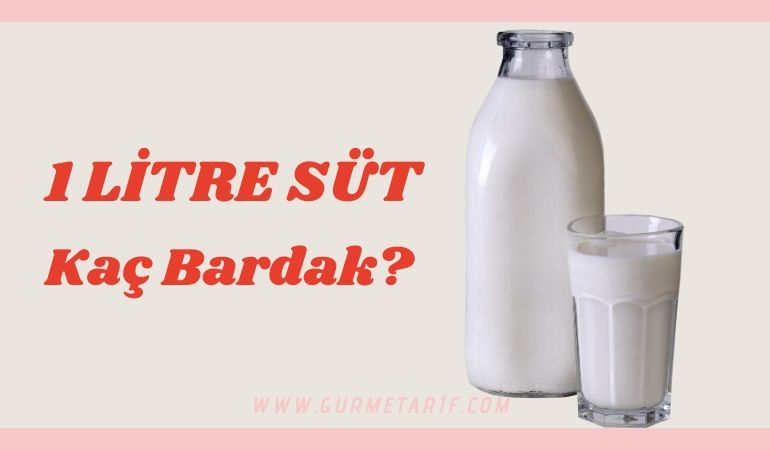 1 litre süt kaç bardak eder? Bir 1 lt süt kaç bardak.