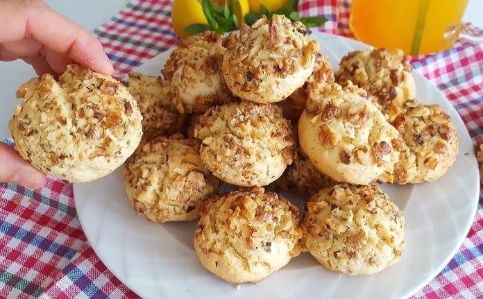 Cevizli pratik kurabiye tarifi