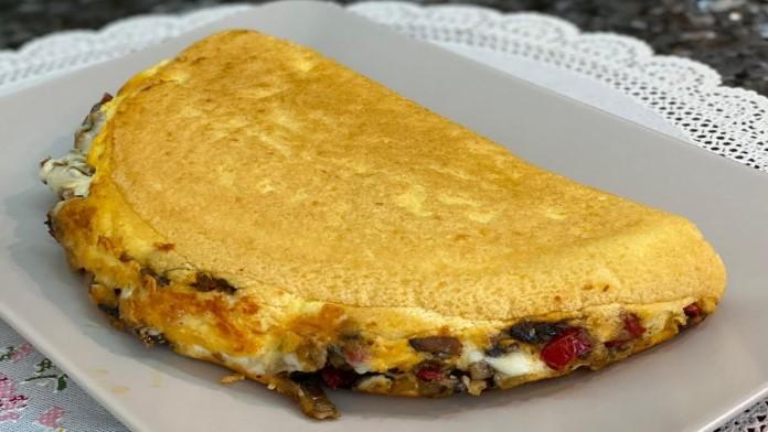 mantarlı sebzeli omlet tarifi