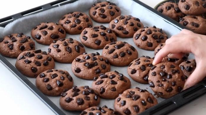 yağsız çikolatalı kurabiye tarifi