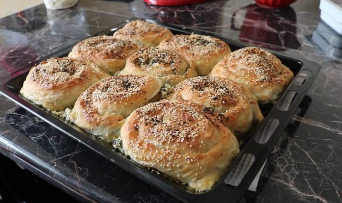 peynirli ıspanaklı hazır yufkadan gül böreği tarifi
