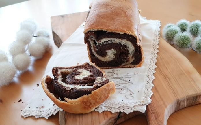 mayalı tatlı alman çöreği tarifi, çikolatalı, kakaolu çörek tarifi. Tatlı ekmek.