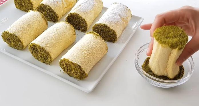 porsiyonluk rulo pasta tarifi ve pastacı kreması yapımı