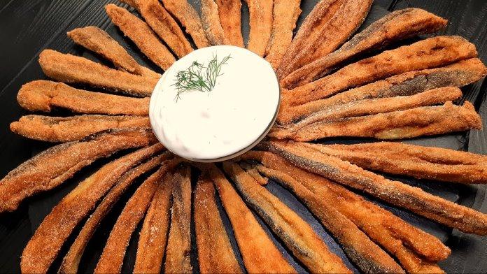 mısır unlu patlıcan kızartması